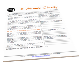 Find Your Focus with 5 Minute Clarity