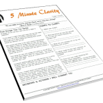 5 Minute Clarity - Finish Stronger Than You Started