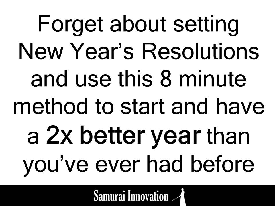 New Year Resolution Samurai Innovation Training