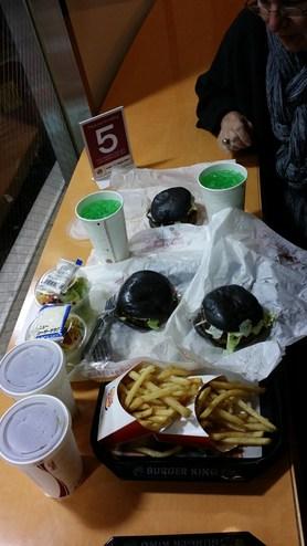 Burger King Black Burger in Tokyo
