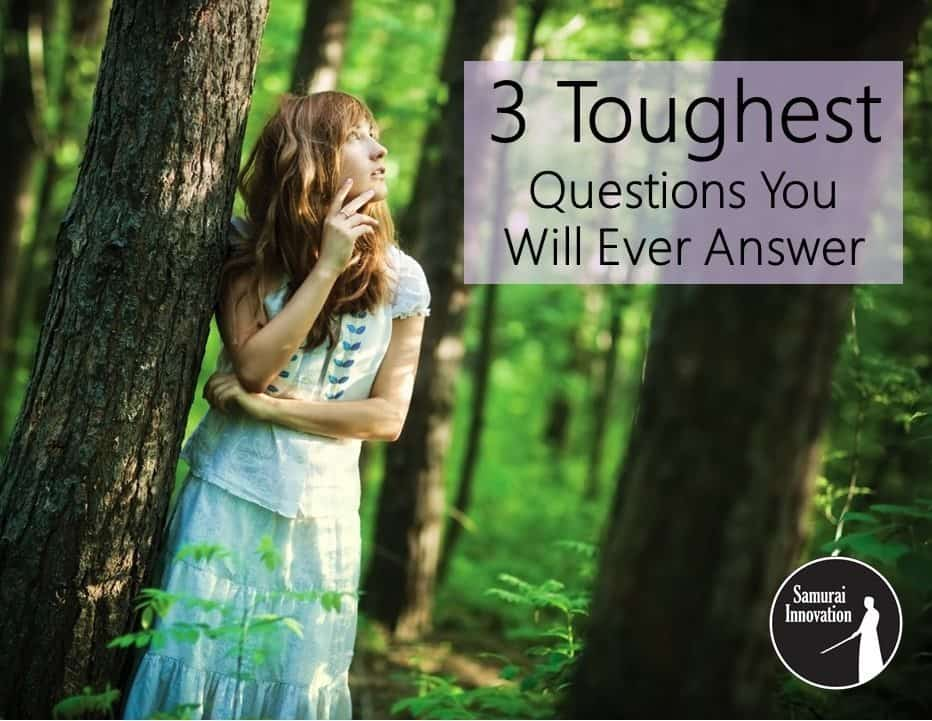 3 Toughest Questions - Samurai Innovation