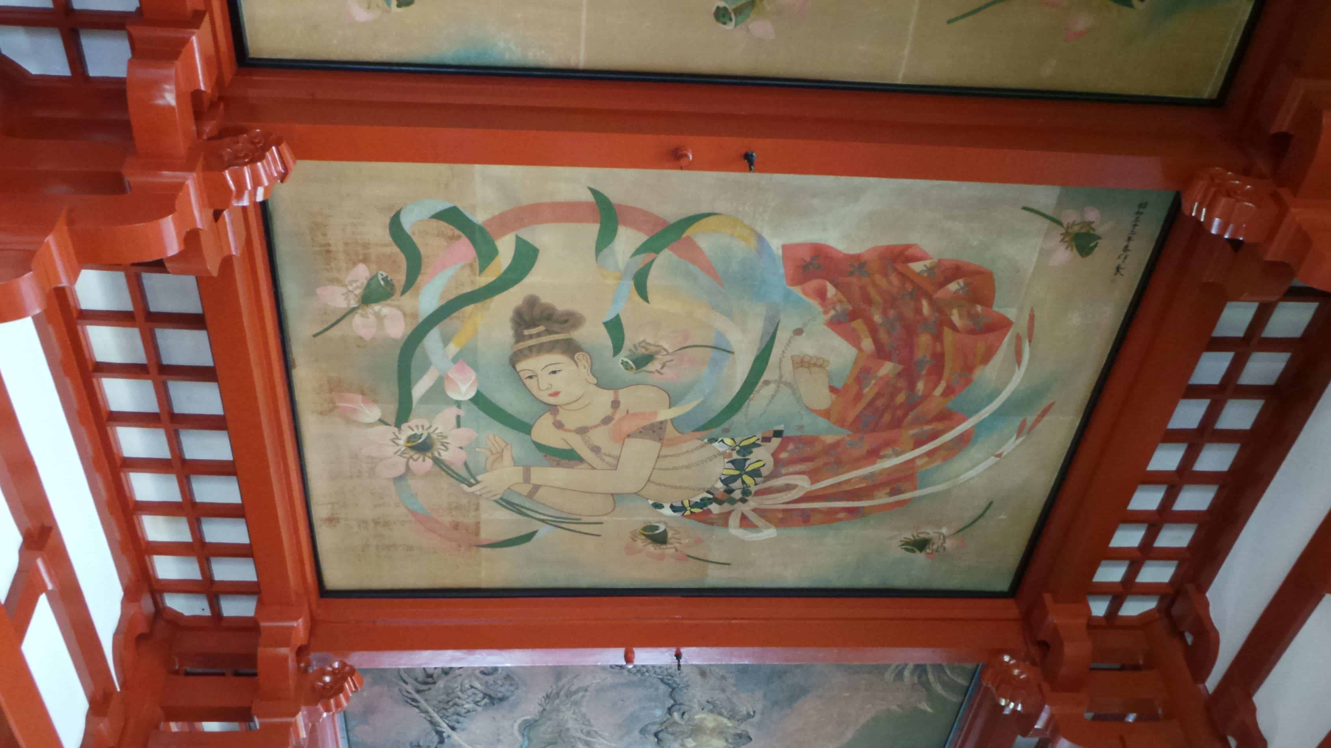 Great art on the Ceiling of Sensoji Temple