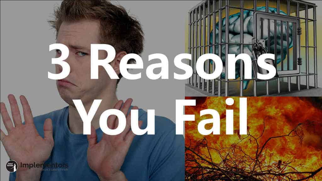 Three Reasons You Fail by Samurai Innovation Coaching