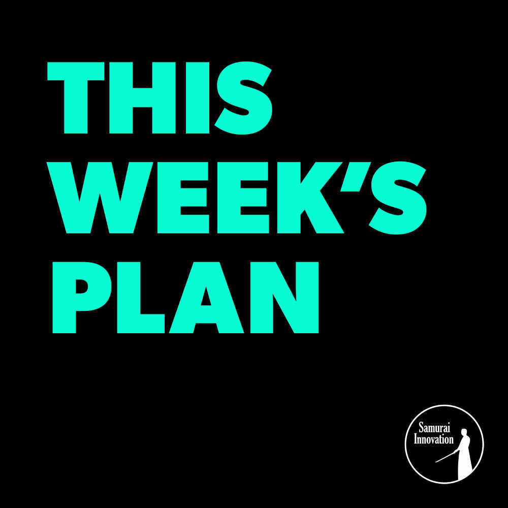 You Need These Elements To Be Productive - This Week's Plan Podcast Show